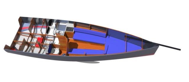 Unter Deck wird die Avanti 26 gewissen Komfort fürs Wochenende oder den Sommerurlaub bieten © Hans-Jürgen Segbers/Performance Yacht Design