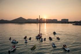 Ankunft bei Sonnenaufgang.  © Victor Fraile/Volvo Ocean Race