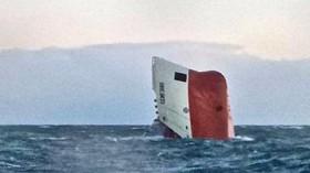"""Der Hamburger Frachter """"Cemfjord"""" ist am Wochenende vor der schottischen Küste gesunken"""