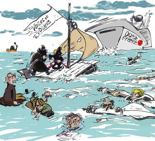 So sah sich die Redaktion vor einigen Monaten – aber ob der Flugzeugträger sie alle aufnehmen wird? © voiles et voiliers