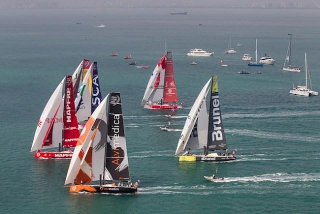 Start zur vierten Etappe des Volvo Ocean Race von Sanya/China nach Auckland/Neuseeland. Foto Ainhoa Sanchez/Volvo Ocean Race