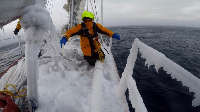 Vorschiffmänner haben's ja eigentlich nie leicht © Selma Expedition