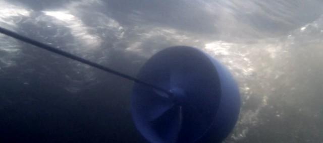 Der Rotor im Einsatz. Möglich wäre das Hinterherziehen im  @ Aquakin