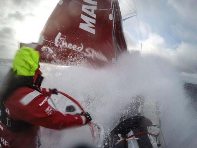 Kampf mit den  Urgewalten im Southern Ocean. MApfre geht in Führung. © Francisco Vignale/MAPFRE/Volvo Ocean Race