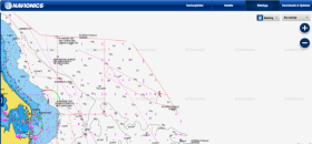 In der Webapp ist Dänemark schon seit längerem weg. Screenshot von: ©http://webapp.navionics.com/
