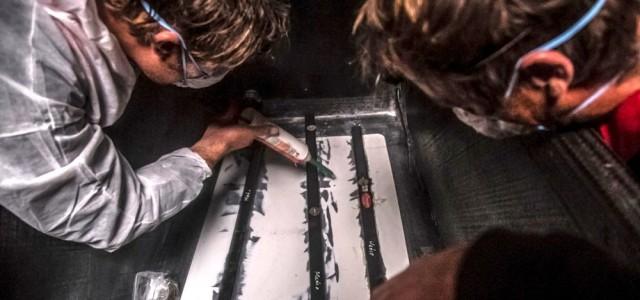 Mapfre verstärkt den Rumpf mit Segellatten© Francisco Vignale / MAPFRE / Volvo Ocean Race