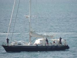 """""""Silandra"""" auf dem Weg zurück nach Martinique © douanes francaises"""