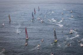 So macht sich das Feld auf nach Newport-. © Ainhoa Sanchez / Volvo Ocean Race