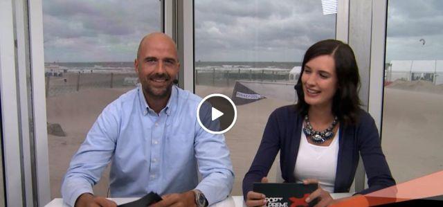 Matze Bohn moderiert Segeln in Warnemünde mit der Rostocker Top Model Aspirantin Luise Will