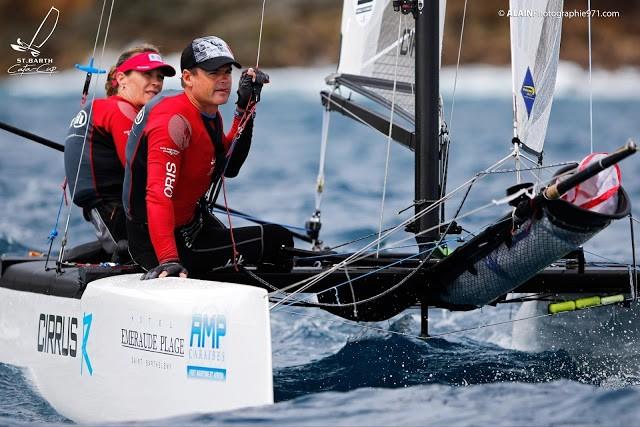 Promi-Paar: Volvo Ocean Race Seglerin Caolijn Brouwer mit ihrem Mann Darren Bundock ex Team Oracle Mitglied. © Alemany/Cata Cup