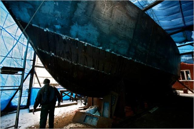 Obdachlose, Boot bauen, Polen