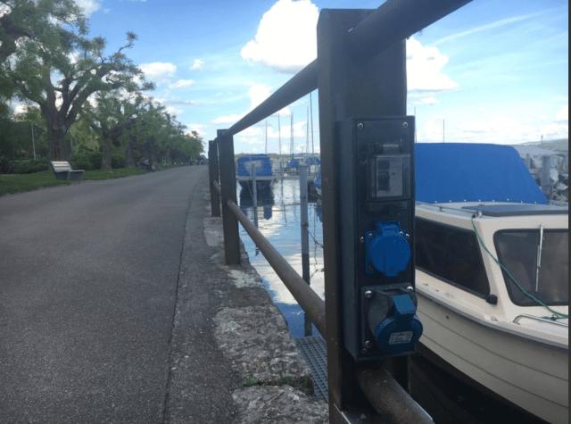 Stromschlag, Bieler See, Hafen