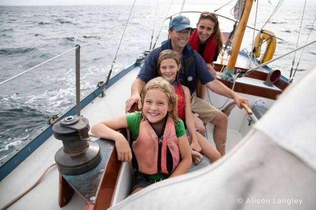 Fahrtensegeln, Küste, Familie