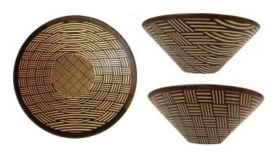 """10.5"""" by 4"""", made with Maple and Wenge."""