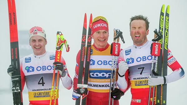 Большунов выиграл гонку на 50 км на этапе Кубка мира в Норвегии