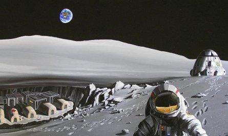 Российскую базу на Луне построят роботы