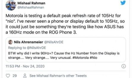 Новый флагман Motorola получит «нетрадиционный» дисплей