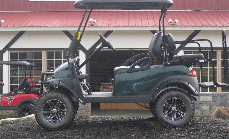 Custom Hunter Green Club Cart