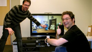 Seg and Andrew Announcing Sam & Max Season One for Wii.
