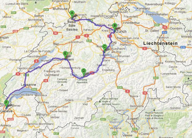 Roteiro Suíça