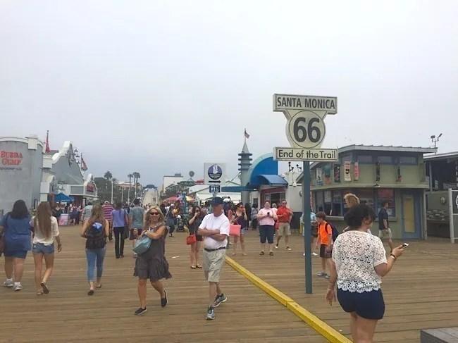 Sim, além de tudo, a famosa Rota 66 termina aqui em Santa Monica!