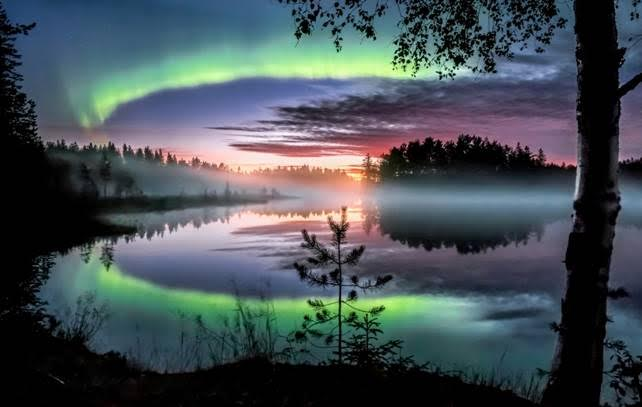 Aurora boreal na Finlândia. Foto: Asko Kuittinen