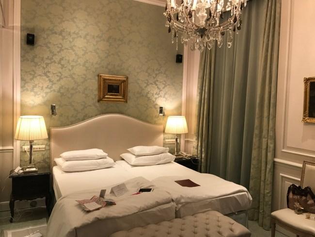 Quarto do hotel Sacher em Viena