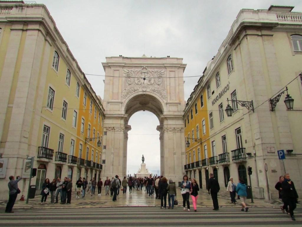 O famoso arco da rua Augusta, em Lisboa