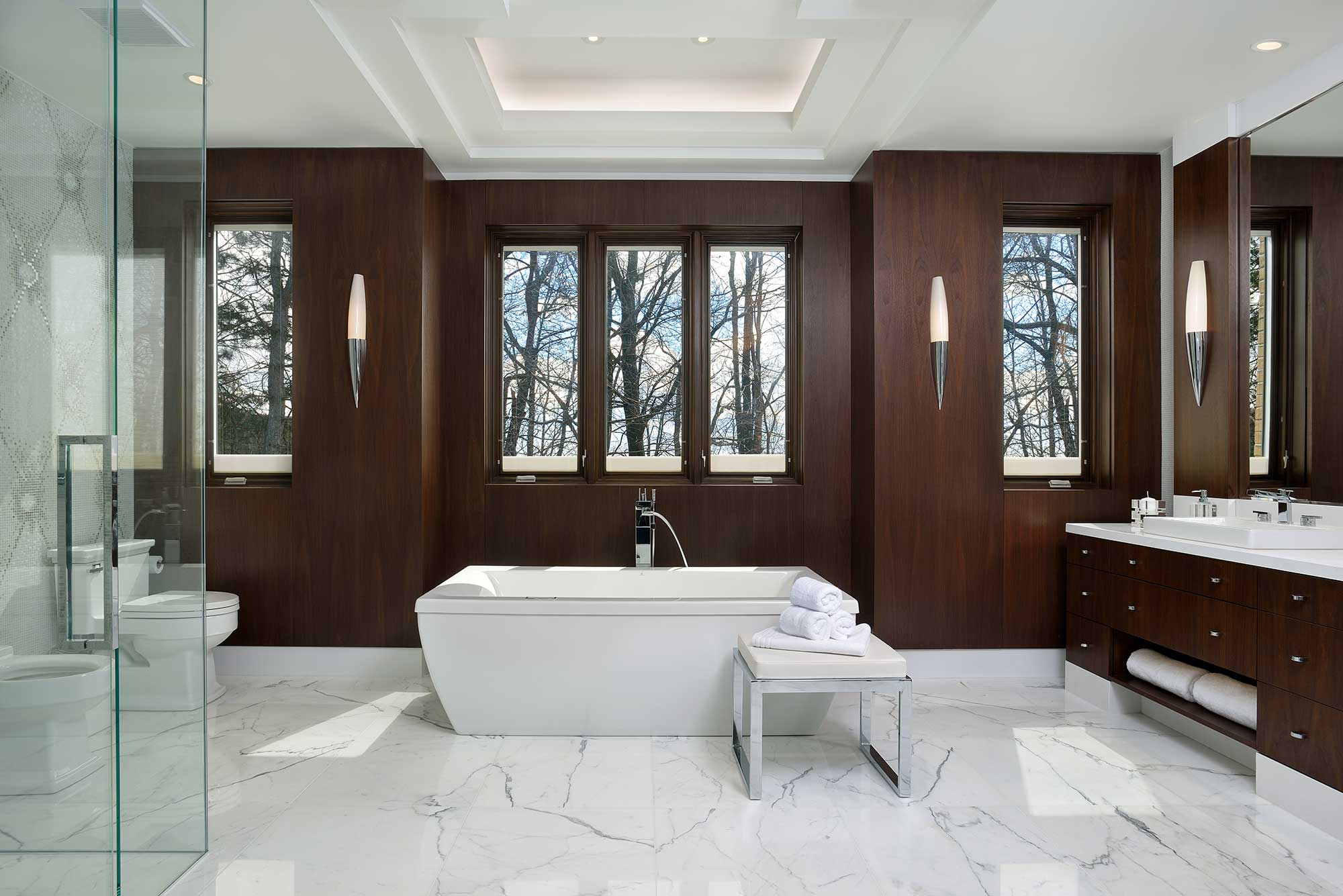 Transitional Master Bedroom Ensuite Bath – SEGRETI DESIGN