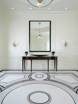 classic contemporary entry hall