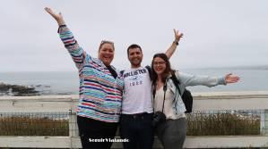 Silvia y Óscar con Stacy, su anfitrión en San Diego