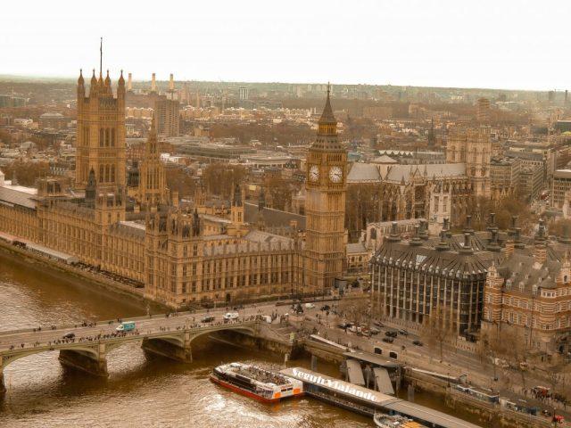 Vista de Big Ben desde London Eye