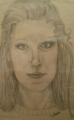 12th gr self portrait Teresa TL Bruce