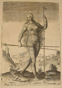 "Imagem: ""American amazon"", Theodore de Bry, século XVI."