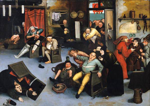 Imagem: A extração da pedra da loucura. Pintura de Pieter Bruegel. 1550.