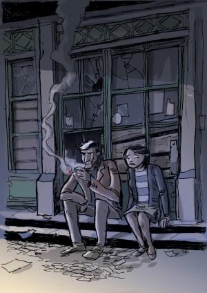 Fernão e Lisa no Cais do Sodré