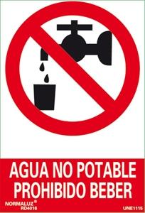 Seal agua no potable prohibido beber  Segureco