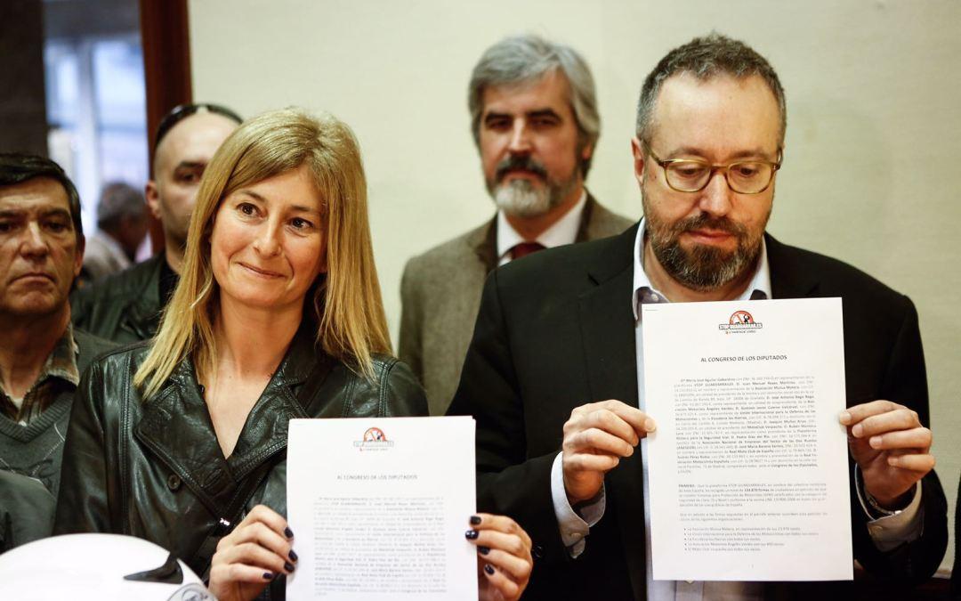 Presentadas firmas Stop Guardarrailes en Congreso de los Diputados. Manifestaciones 2 de abril y algo de historia.