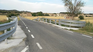 Restituida la seguridad en el puente de la L203. Barreras y señalización.