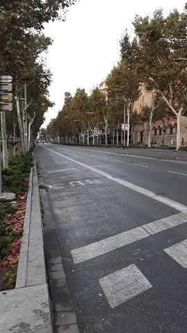 Delito en la Diagonal de Barcelona
