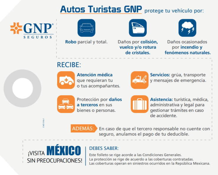 Información sobre Seguros para autos con placas de Estados Unidos (USA) en México