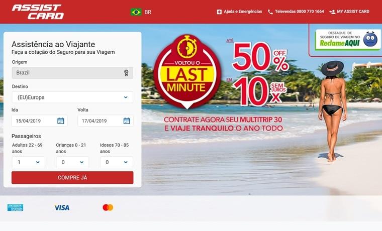 seguro viagem site assistcard
