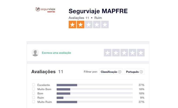 Seguro viagem Mapfre é bom Trustpilot
