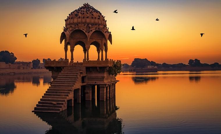 seguro viagem Índia por do sol