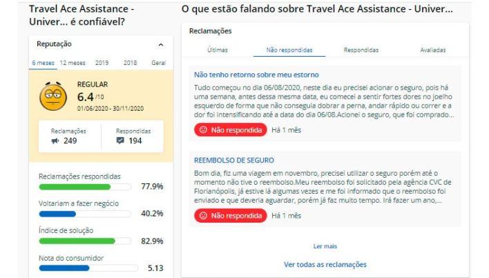 Travel Ace Reclame Aqui