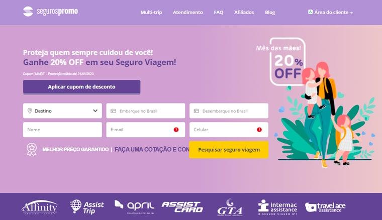 Home page Seguros Promo
