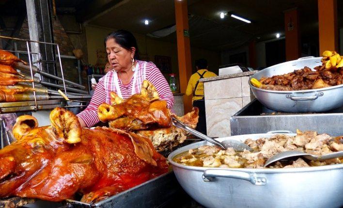 comida de rua na América do Sul