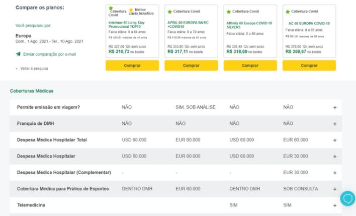 compare os planos no seguros promo