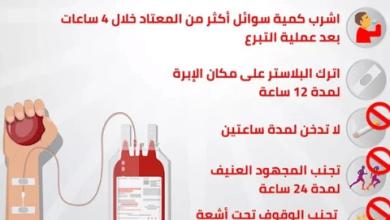 Photo of عدم التدخين ساعتين.. الصحة توضح نصائح بعد التبرع بالدم