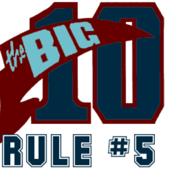 big ten rules of writing requirements logo #5